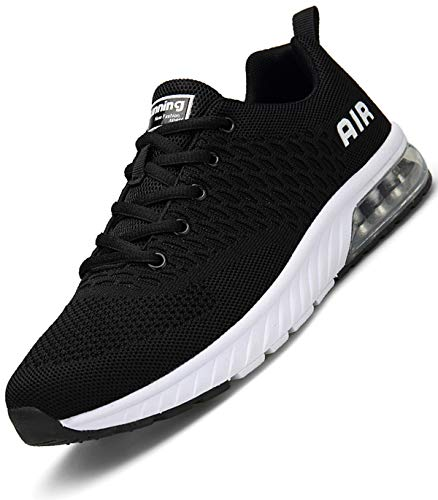 Aire Zapatillas Fitness Hombre Zapatos Deportivos para Casual Correr Transpirables Gimnasio Sneakers Negro 43 EU
