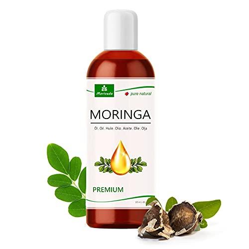 MoriVeda® - Moringa Öl Premium 100ml, kalt gepresst aus Qualitätssamen. 100% Oleifera Qualität. Hautpflege, Haarpflege, Wundpflege, Anti-Aging, Speiseöl, Behenöl (1x100ml)