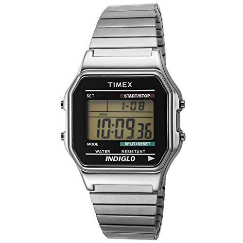 Timex Herren Digital Quarz mit Edelstahl Armband T78587D7