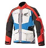 Alpinestars Men's Honda Andes v2 Drystar Motorcycle Jacket, Gray/Red/Blue, Small