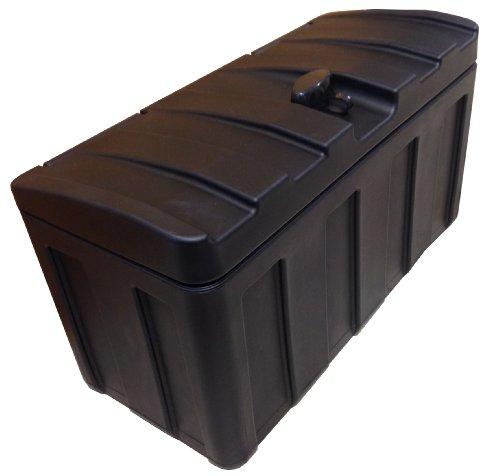 Deichselbox/Staubox für Pkw Anhänger zum Transport von Werkzeugen, Tools und anderen Gebrauchsgegenständen - Universelle Befestigung, Abschließbar und Wetterbeständig - (51,3 x 24 x 30 cm)