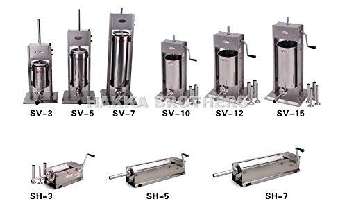 Product Image 4: Hakka 7 Lb/3 L Sausage Stuffer 2 Speed Stainless Steel Vertical 5-7 Lb Sausage Maker by HAKKA BROTHER