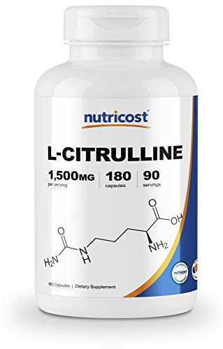 Nutricost L-Citrulline 750mg, 180 Capsules by Nutricost