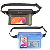 Syncwire Waterproof Pouch Bag with Adjustable Waist Strap (2 Pack) - IP68 Waterproof Waist Bag...