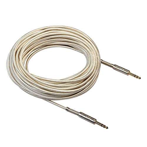 6.35mm Durable Low Noise Electric Guitar&Bass Instrument Cable - as described, 2000cm