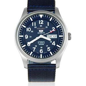 SEIKO Men's Analogue Automatic Watch with Textile Strap SNZG11K1 19