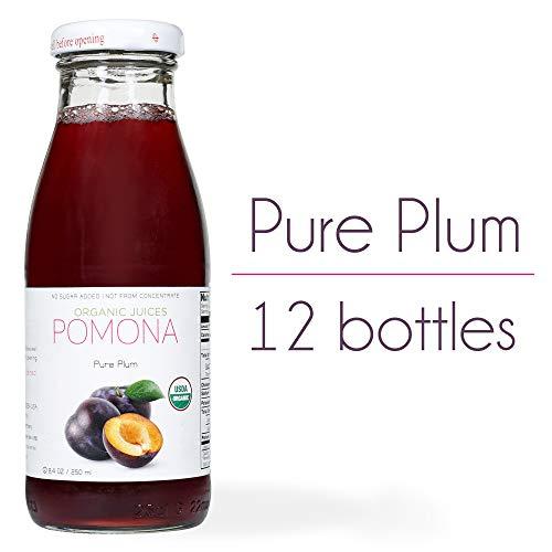 Pomona Organic Juices Pure Juice, Plum, 8.4 Ounce Bottle...