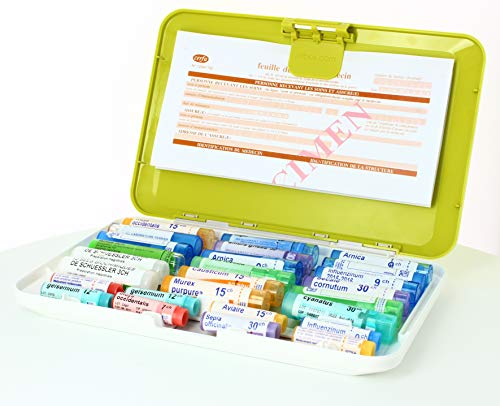 PILBOX Boîte à Pilules Homeo Vert Anis