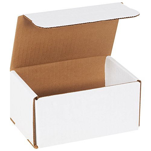 "BOX USA BM643 6""L x 4""W x 3""H, White (Pack of 50)"