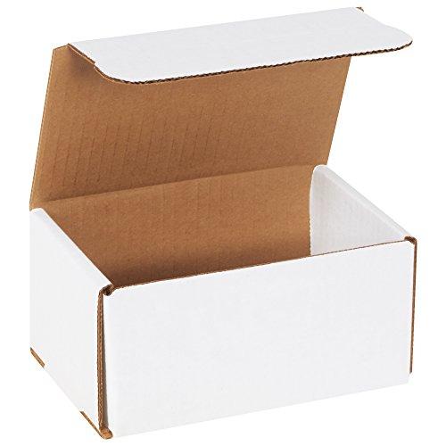 """BOX USA BM643 6""""L x 4""""W x 3""""H, White (Pack of 50)"""