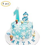 Cake Toppers Picks for Kids Birthday Party, Baby Shower Cake Decorations (Frozen 8 pcs)