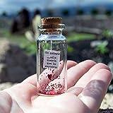 Te quiero. Slo quera que lo supieras. Mensaje en una botella. Miniaturas. Regalo personalizado. Divertida postal de amor.