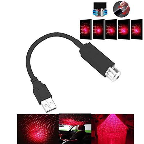 Led Luci Interne per Auto Macchina Interni Luce Plafoniera a Stella USB Auto Atmosphere Lampada...