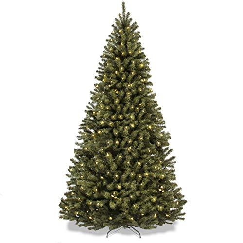 Mejor Elección Productos 7,5'ft Prelit Premium con bisagras de Abeto Artificial árbol de Navidad w/550Luces claras y Soporte