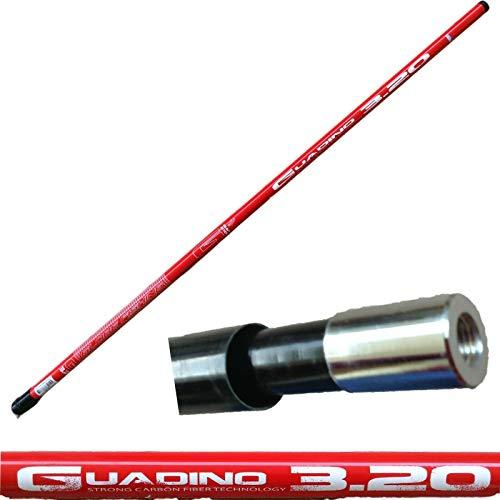globe fishing Manico di GUADINO Pesca PALO Rigido Robusto TELESCOPICO Metri 3,20 Carpa Trota Mare SPIGOLA ORATA