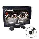 """7"""" Auto Monitor 4-PIN Luftfahrt Stecker 2 Eingänge 800x480 HD Anti-Glare Hohe Helligkeit für 12V-24V LKW Anhänger Bus Vans Camper Fahrzeug"""