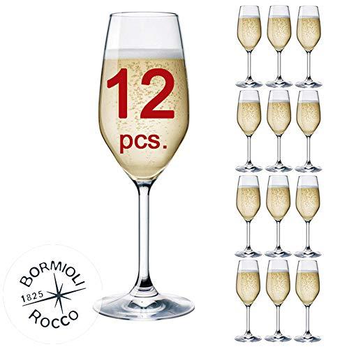 Bormioli Rocco - Set 12 Flute da Champagne & Prosecco - MOD. Flute DIVINO 24 - capacità: cl. 24