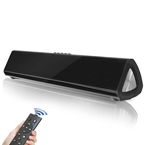 Fityou Versione Innovazione Soundbar TV, 5.0 Bluetooth Altoparlante, Soundbar Suono Surround Home Theater Bluetooth per TV, PC, Mobile, Suono Potente, RCA/AUX/Bluetooth, con Telecomando