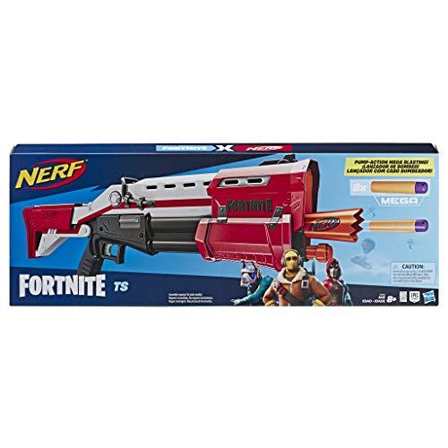 Hasbro Nerf- Fornite Mega Blaster con Dardi, Colore Rosso, E7065EU4