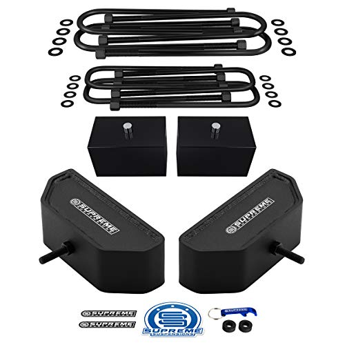 Supreme Suspensions - Full Lift Kit for 1999-2004 Ford F250 / F350 Super Duty 4WD 3.5' Front + 3' Rear Suspension Lift Blocks with Heavy-Duty U-Bolts