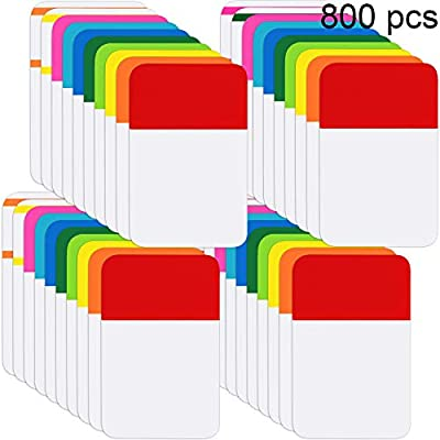 Sticky index tabs: totally 800 pieces 1 inch adhesive index tabs in 40 sets with 12 different neon colors, 20 pieces each set and color as picture displayed 12 Multiple colors: 12 different fluorescent colors index tabs are red, yellow, green, blue, ...