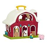 Battat – Big Red Barn – Animal Farm Playset for Toddlers 18M+ (6Piece), Dark Red, 13.5' Large x 9' W x 12' H