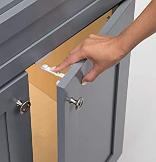 Easy installation: just peel and stick! Comes with an easy-to-use installation template so no measuring needed No tools necessary for most cabinets. Some materials, such as particle board, require the use of screws (included) Perfect choice for rente...