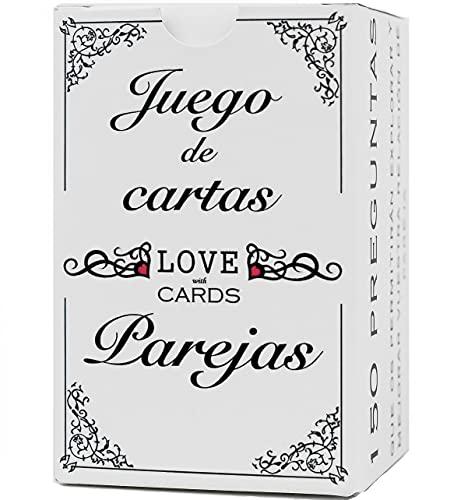 ❤️LOVEwithCARDS❤️ Juego para Parejas, Novios, Casados o Enamorados, con 150 Tarjetas. Regalo Original de Aniversario, cumpleaños y San Valentin.