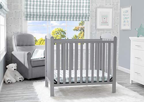 Product Image 9: Delta Children Emery Mini Convertible Baby Crib with 2.75-inch Mattress, Grey