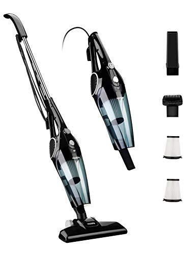 Holife Aspiradora Escoba de 12Kpa, Aspirador Vertical 2 en 1, 800ml, con 2 Filtros HEPA Lavables y 3 Cepillos, Vertical y Portátil Ajustable [Clase...