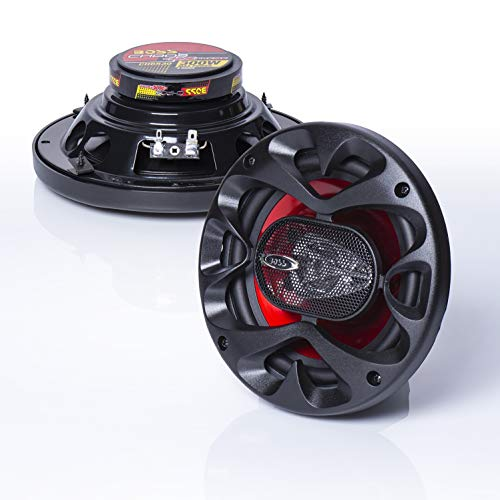 BOSS Audio Systems CH6530 Car Speakers - 300 Watts of Power Per Pair and 150 Watts Each, 6.5 Inch, Full Range, 3 Way, Sold in Pairs