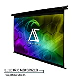 Akia Screens 104 inch Motorized Electric Projector Screen 4:3 8K 4K Ultra HD 3D Ready Wall/Ceiling Mounted 12V Trigger Remote Control Black Projection Screen for Movie Home Theater AK-MOTORIZE104V1