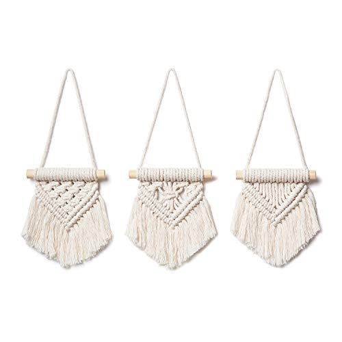 Mkono Macrame Wall Hanging Set of 3 Cute Macrame Holiday...