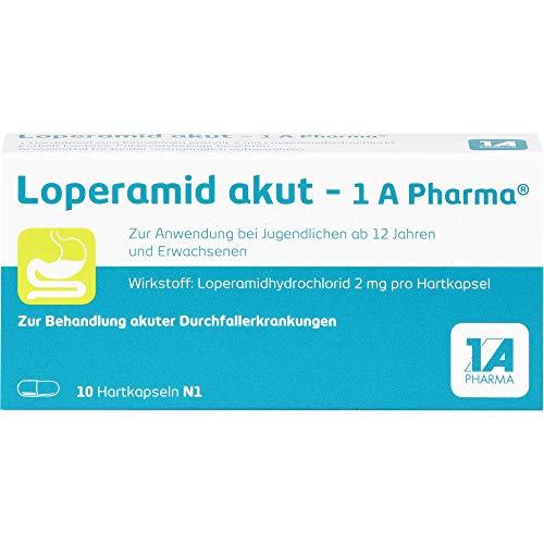 Loperamid akut - 1 A Pharma Hartkapseln, 10 St. Kapseln