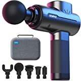 Renpho Powerful Portable Massage Gun, Quiet Deep Tissue Mini Workout Gun Massager for Back and Neck Percussion for Foot Massage, Muscle Massagers with 3200rpm Motor 2500mAh Rechargeable Battery