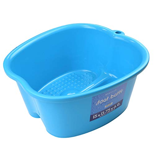 Mantello Foot Soaking Bath Basin - Large Foot Soaking Tub - Pedicure Foot Soak - Home Foot Spa (Blue)