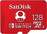 Carte mémoire sous licence Nintendo pour la console Nintendo Switch Ajoutez instantanément jusqu'à 128Go d'espace de stockage supplémentaire Taux de transfert jusqu'à 100Mo/s pour charger les jeux rapidement Stockez des jeux numériques et du conten...