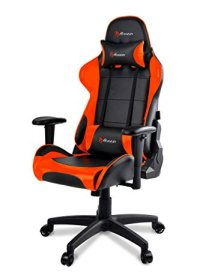 Arozzi Verona V2 Advanced Racing Style Gaming Chair with High Backrest, Recliner, Swivel, Tilt, Rocker and Seat Height Adjustment, Lumbar and Headrest Pillows Included, Orange