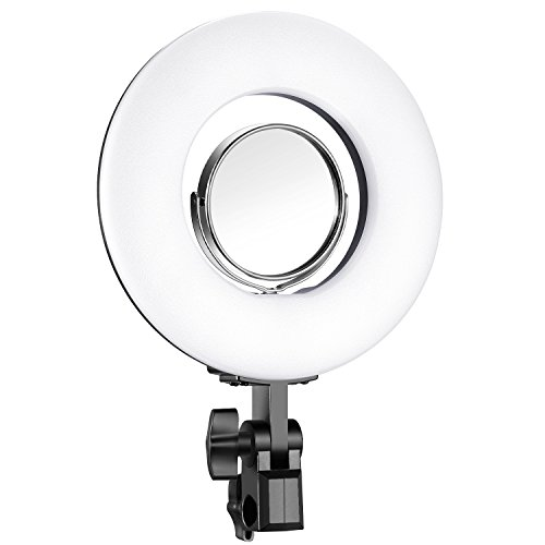 Neewer Dimmable Mini LED Ring Light 7.7 inches/19.5 Centimeters Outer 24W 5500K with 3.5-inch Mirror for Beauty Blog Make up Selfie Studio Portrait Video Photography (Stand Not Included)