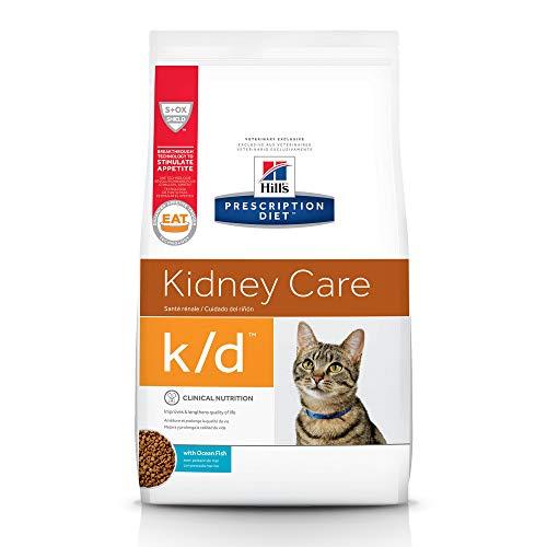 Hill's Prescription Diet k/d Kidney Care Ocean Fish Dry Cat Food, 8.5 lb bag