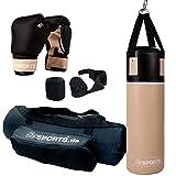 ScSPORTS Boxsack-Set, für Jugendliche und Kinder, Box-Set mit Boxhandschuhen, Boxbandagen und Tasche, 12 kg,...
