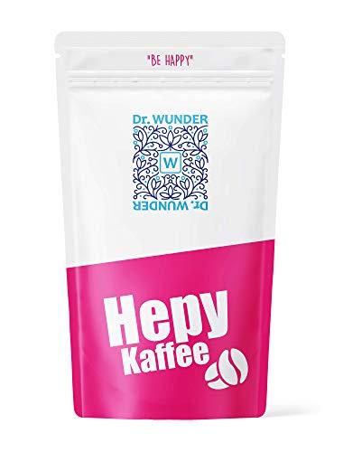Dr. Wunder® Hepy-Kaffee 250g: Grüner/Goldener Spezial-Kaffee   besonders hoher Gehalt an Koffein und Palmitinsäure   für den Kaffee-Einlauf geeignet