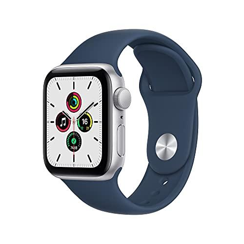 Apple Watch SE(GPSモデル)- 40mmシルバーアルミニウムケースとアビスブルースポーツバンド - レギュラー