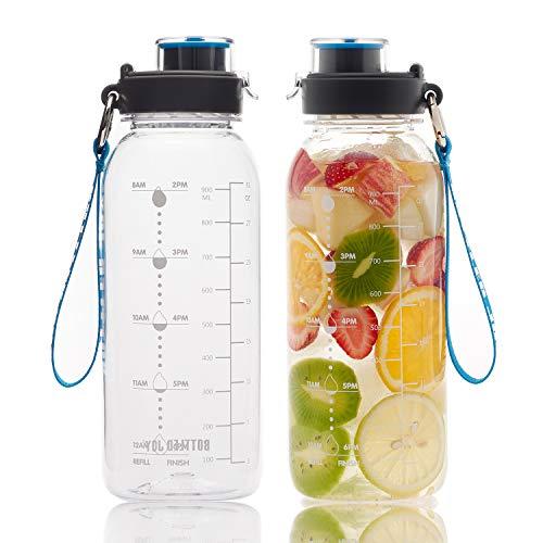 BOTTLED JOY 32oz Water Bottle, BPA Free Water Bottle with...