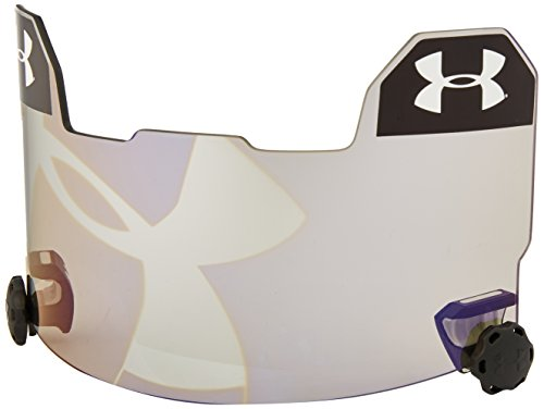 Under Armour Standard Football Helmet Visor with Hologram, Grey/Blue