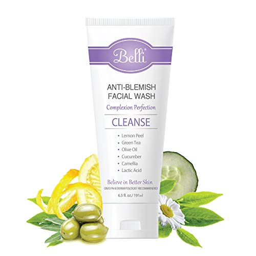 Belli Anti-Blemish Facial Wash – Cleanse Acne-Prone Skin – OB/GYN and Dermatologist Recommended – 6.5 oz.