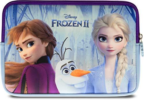 """Pebble Gear Disney Frozen 2 Schutzhülle - Universell einsetzbare Neopren Kinder Tasche mit Die Eiskönigin 2-Motiv, geeignet für 7"""" Tablets (Fire 7 Kids Edition, Fire HD 8), robuster Reißverschluss"""