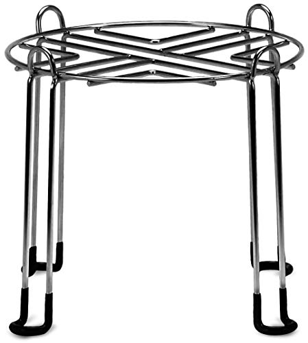 Water Filter Stand 8' Tall by 9' Wide Compatible with Berkey, Countertop Steel Stand for Most Medium Gravity Fed Water Coolers - Quality Stainless Steel - Fills Glasses, Pitchers, Water, Heavy Duty