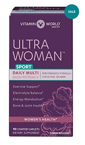 Vitamin World Ultra Woman™ Sport Daily Multivitamins, Performance Formula for Active Women 90 Coated caplets