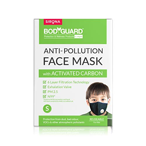 Bodyguard Reusable Anti Pollution Face Mask with Activated Carbon, N99
